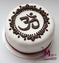 Tortas para grandes Bolo Zen, India Cakes, Themed Cakes, Let Them Eat Cake, Cupcake Cakes, Fondant, Cake Decorating, Bakery, Birthday Cake