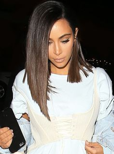 Kim Inspired Lob Brown Ombre Human Hair Full Lace Wig -NS008-s