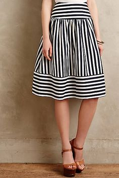 Stripes + full + perfect length. High Seas Skirt