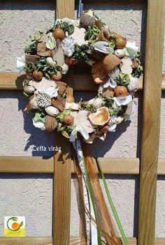 Natúr terméses koszorú - tavaszi ajtódísz kicsi, Dekoráció, Otthon, lakberendezés, Ünnepi dekoráció, Dísz, Meska