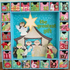 Hand Made Advent Calendar Using The Kaisercraft Kit Xmas