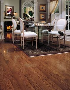 Mohawk Oak Gunstock Wirebrushed Click Together Engineered Hardwood Flooring