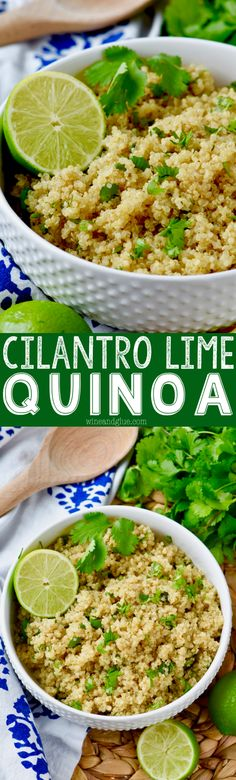 This Cilantro Lime Quinoa is super simple to make and a great alternative to cilantro lime rice!