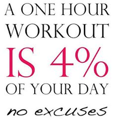 A one hour workout is of your day. no excuses A one hour workout is of your day. no excuses A one hour workout is of your day. no excuses Sport Motivation, Fitness Motivation, Fitness Quotes, Monday Motivation, Workout Quotes, Zumba Quotes, Exercise Quotes, Motivation Wall, Motivation Pictures