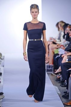 Do we know how obsessed I am w/ Black and Gold...I love the simplicity of this and its Navy! Oscar De La Renta Spring 2013