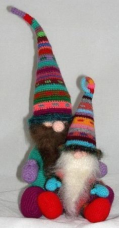 Gnome Crochet Pattern PDF Roonmut Cobbfoodle and Pilrick Nacklewocket the gnomes, $5.75 http://www.etsy.com/shop/Zodwollop