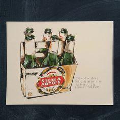 Stella 11 x 14 by markpenxa on Etsy - Painting, Stella Artois