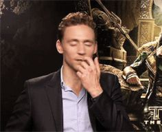 He gets distracted by the wind during interviews. | Community Post: 14 Reasons Why Tom Hiddleston Probably Isn't Real