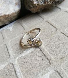 Citrine Jewellery – Citrine Silver Ring, Adjustable Ring, Elegant Ring – a unique product by Midas-Jewelry on DaWanda Citrine Gemstone, Adjustable Ring, Silver Rings, Wedding Rings, Engagement Rings, Gemstones, Jewellery, Elegant, Unique