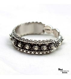 Oxidized Ring Solid 925 Sterling Silver Handmade Indian Ethnic Jewelry Size 7.5