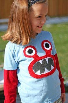 cute monster shirt!