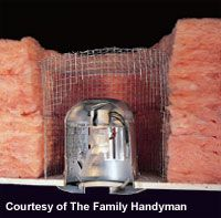 Create barriers around fixtures or vents in attic before insulating