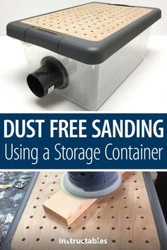 Woodworking Holz This simple project for dust-free sanding using a storage container can be finished in a single weekend. Holz This simple project for dust-free sanding using a storage container can be finished in a single weekend. Easy Woodworking Projects, Woodworking Furniture, Easy Projects, Diy Furniture, Must Have Woodworking Tools, Woodworking Workshop, Woodworking Techniques, Woodworking Classes, Rockler Woodworking