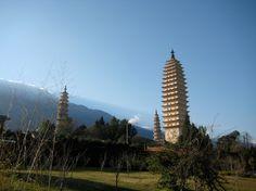 Near Dali, Yunnan - Three Pagodas