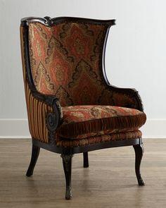 MacKenzie-Childs Bittersweet Wing Chair.