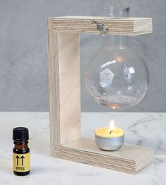 Compact Oil Burner ...i could make this!!!!