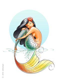 Mermaid. by aleksangel.deviantart.com on @deviantART