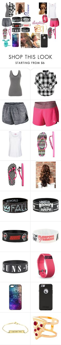 """""""Brianna and Sophie Hanging Out"""" by emo-lover152 ❤ liked on Polyvore featuring maurices, NIKE, Mountain Hardwear, adidas, Fitbit, OtterBox and Glenda López"""