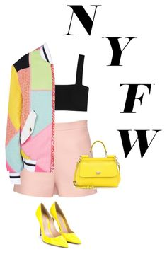 NYFW style by leaaaaxx on Polyvore featuring polyvore moda style Valentino Moschino Gianvito Rossi Dolce&Gabbana women's clothing women's fashion women female woman misses juniors