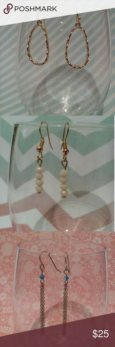 5 Sets of Earrings Bundle Each pictured above! Jewelry