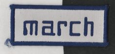 MARCH F1 ORIGINAL PERIOD CLOTH SEW ON RACE SUIT PATCH RARE 701 SIFFERT 731 761