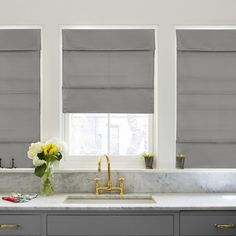 Chicology Light Filtering Magnetic Roman Shade