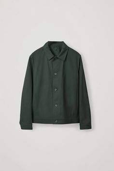 Cos Button-up Shirt Jacket In Green Green Coat, Green Jacket, Color Khaki, Men's Coats And Jackets, Jacket Buttons, Shirt Jacket, Shirt Style, Button Up Shirts, Menswear