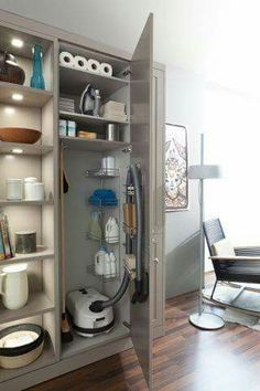 30 Small Bathroom Design Ideas for Your Home ~ Ideas for House Renovations Laundry Room Storage, Laundry Room Design, Kitchen Organization, Kitchen Storage, Kitchen Decor, Laundry Rooms, Kitchen Pantry, Utility Room Storage, Kitchen Furniture