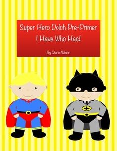 A fun way to help your students learn their Dolch Pre-Primer sight words!