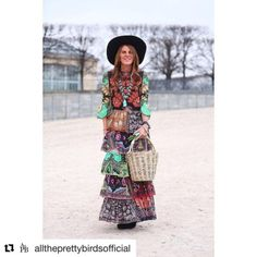 ( ・・・ Add Folk, Stay Chic - is on the site today with a how-to and all of her favorite bohemian pieces of the season. Anna Dello Russo, Bohemian, Chic, Style, Fashion, Shabby Chic, Swag, Moda, Elegant