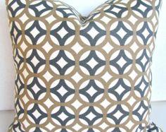 OREILLER couverture 18 x 18 TAN jeter oreiller housses gris 18 x 18 coussins décoratifs Kahki géométriques Taupe gris oreiller magasins Home Decor