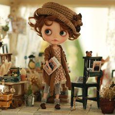 Amazon | (ドーリア)Dollia ブライス 1/6ドール用 アウトフィット ストール ロングカーディガン ジャケット ネオブライス 服 ドール 人形 (ブラウン) | おもちゃ 通販
