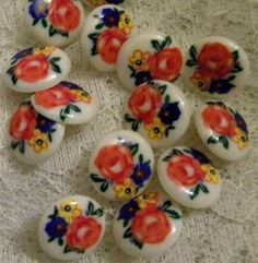 50 Plastic Floral Buttons - Etsy