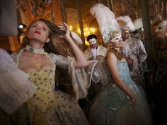 I'm DYING t attend this ball!!  Haute Masquerade ~ Feathered, winged, masked—patrons of the exclusive Ball of the Doge by Antonia Sautter enjoy the limelight. Venice-based stylist and costume designer Antonia Sautter created the ball in 1994, to the delight of many north European invitees.
