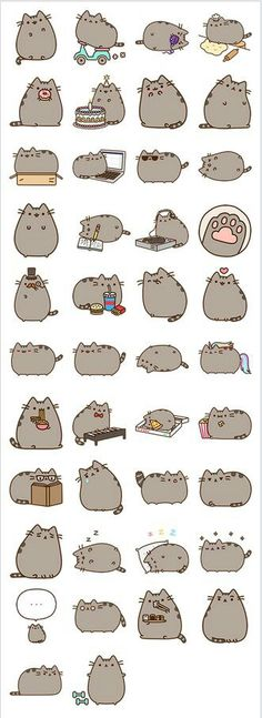53 Ideas Drawing Kawaii Pusheen For 2019 Gato Pusheen, Pusheen Love, How To Draw Pusheen, Smileys, Chat Kawaii, Kawaii Cat, Kawaii Stuff, Cute Cats, Funny Cats