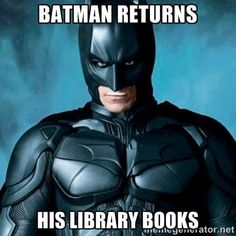 Don't forget to return your library books! You can bring them in while we're open, or you can return them in the book drop by the front door.