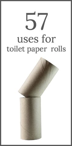 57 Usos para los rollos de papel higiénico - 57 Uses for toilet paper rolls including crafts, gifts and household re-purposing