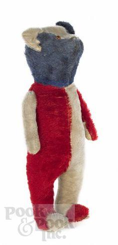 Patriotic Mohair Teddy Bear, Ca. 1930,