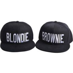 Blondie Brownie custom embroidery SnapBack dat hat cap ( 24) ❤ liked on  Polyvore featuring accessories 9f2195e7a61b