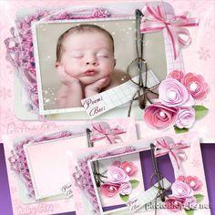 Frame for Newborn - My Little Girl, 1st Day Life