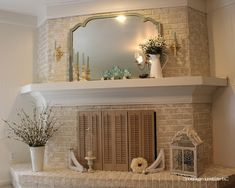 White Painted Brick Fireplaces | Found on cottageinstincts.blogspot.com