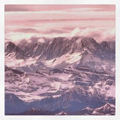 The Swiss Alps as seen from above. Picture taken from an airliners.