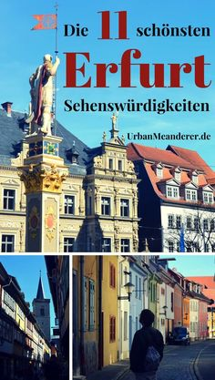 Here I describe an optimal tour along the 11 most beautiful Erfurt sights. I give you useful Erfurt tips, so that you can make the most of your time in the beautiful state capital of Thuringia! Happy Soul, Travel Companies, Beautiful Places To Travel, Culture Travel, Germany Travel, Outdoor Travel, Places To Go, Travel Destinations, Road Trip