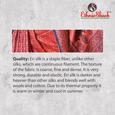 I am a staple fiber which is #durable and #elastic. I am darker, heavier and have a thermal property to keep #warm in #winter and cool in #summer.