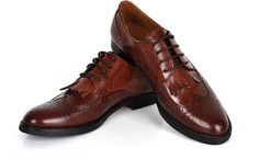 Free shipping  Handmade brown cow leather oxford by UniqueFlavor, $120.00