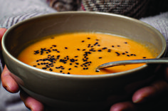 Lemongrass, Coconut & Sweet Potato Soup, The Extra Virgin Kitchen cookbook Cooking Recipes, Healthy Recipes, Healthy Foods, Sweet Potato Soup, My Cookbook, Lemon Grass, Soups And Stews, Dairy Free, Coconut