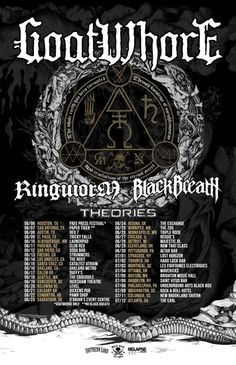 Goatwhore announces N. American headline dates with Ringworm, Black Breath and Theories