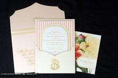 invitación de la boda de lujo floral