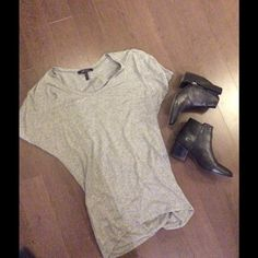 BCBG oversized tee Wore with leggings or as a standard baggy shirt. Great condition. Shoes not included. BCBG Tops Tees - Short Sleeve