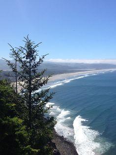 View from Nehakanie Mnt. looking on to Manzanita , Ore and Nehalem Bay